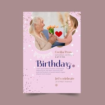 Verjaardag flyer sjabloonontwerp