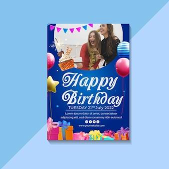 Verjaardag folder sjabloon