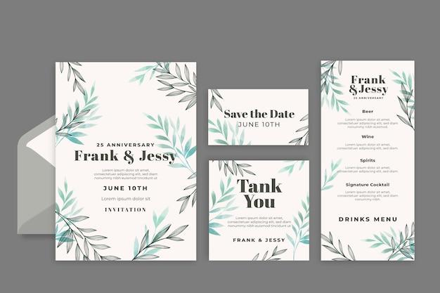 Verjaardag gelukkige bruiloft briefpapier collectie