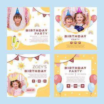 Verjaardag instagram-berichten voor kinderen