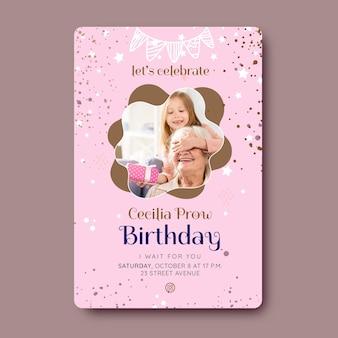 Verjaardag kaart sjabloonontwerp