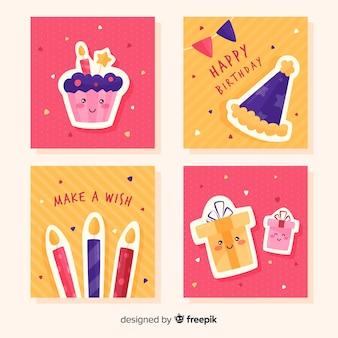 Verjaardag kaartenset