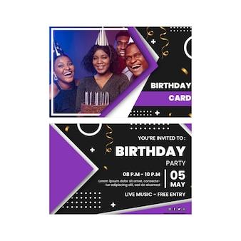 Verjaardag kaartsjabloon met foto
