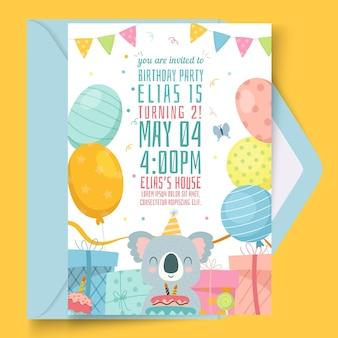 Verjaardag kaartsjabloon voor kinderen
