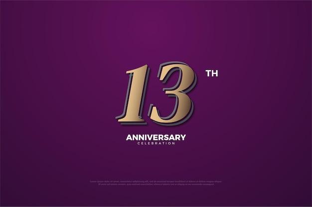 Verjaardag met cijfers op paarse achtergrond