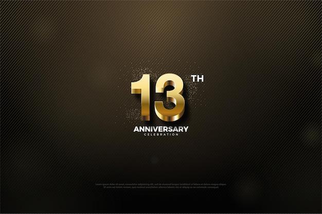 Verjaardag met sprankelende gouden cijfers