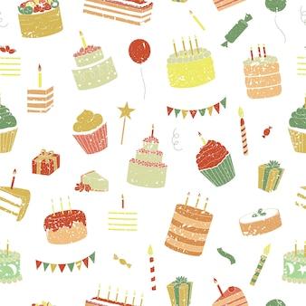 Verjaardag naadloos patroon