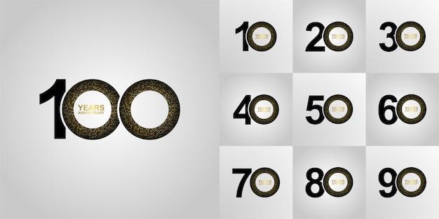 Verjaardag nummer modern logo