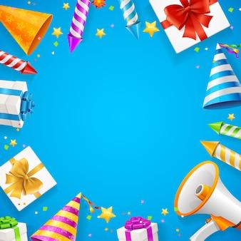 Verjaardag of verjaardag viering achtergrond