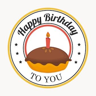 Verjaardag ontwerp op witte achtergrond