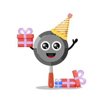 Verjaardag pan schattig karakter mascotte