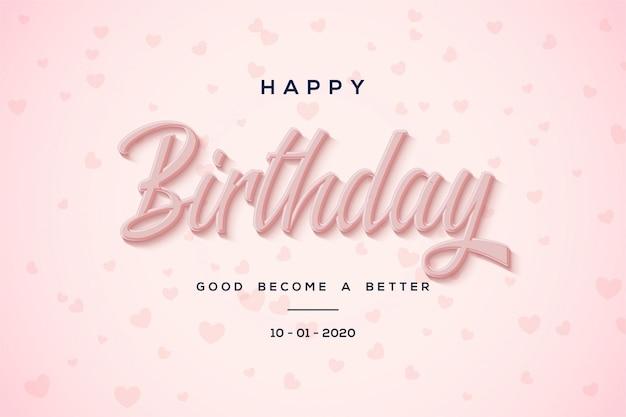 Verjaardag partij achtergrond met roze tekst op roze achtergrond.
