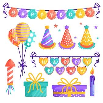 Verjaardag partij decoraties concept