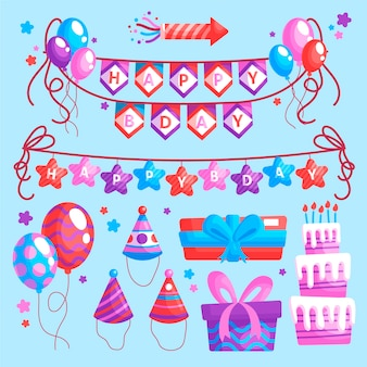 Verjaardag partij decoraties ontwerp