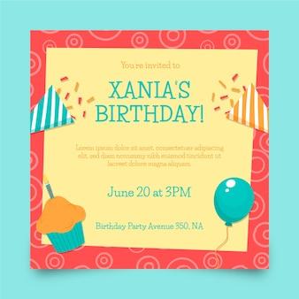 Verjaardag partij folder sjabloon