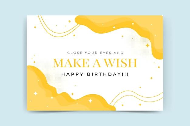 Verjaardag partij kaartsjabloon