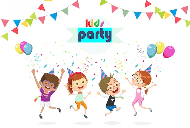 Verjaardag partij kinderen cartoon afbeelding