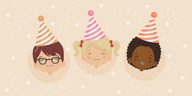 Verjaardag partij uitnodiging kaartsjabloon