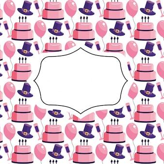 Verjaardag patroon achtergrond