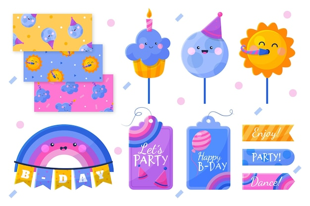 Verjaardag plakboek set