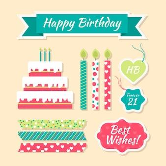 Verjaardag plakboekpakket
