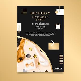 Verjaardag poster ontwerpsjabloon