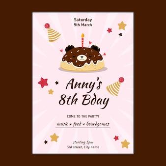 Verjaardag poster voor kinderen