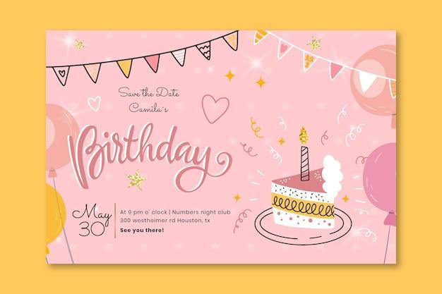 Verjaardag sjabloon voor spandoek