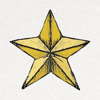Verjaardag ster sticker in kleurrijke vintage stijl