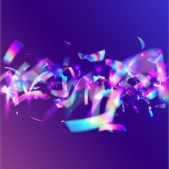 Verjaardag textuur. moderne kunst. cristal tinsel. violet vervagen schittering. regenboogeffect. metalen kerstsjabloon. laservlieger. vakantie folie. roze verjaardagstextuur