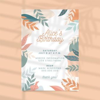 Verjaardag uitnodiging concept