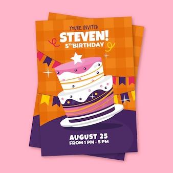 Verjaardag uitnodiging kinderen sjabloon