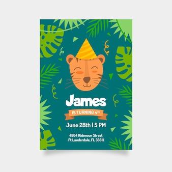 Verjaardag uitnodiging ontwerp voor kinderen