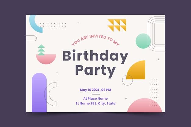 Verjaardag uitnodiging sjabloon