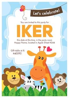 Verjaardag uitnodiging
