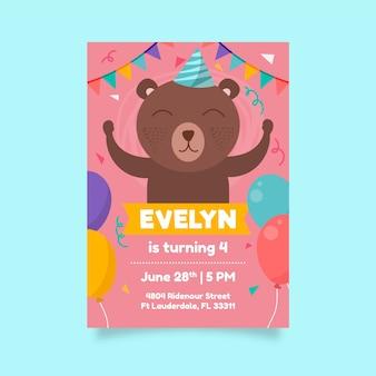 Verjaardag uitnodigingsstijl voor kinderen