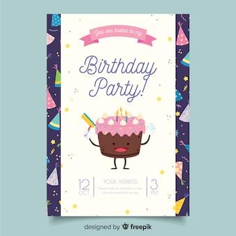 Verjaardag verjaardag uitnodigingssjabloon