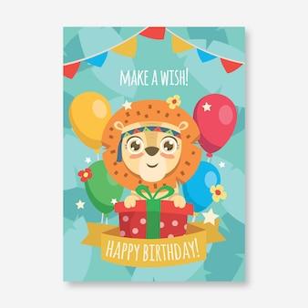 Verjaardag verjaardagsuitnodiging sjabloon