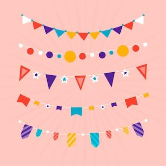 Verjaardag versiering slinger Gratis Vector