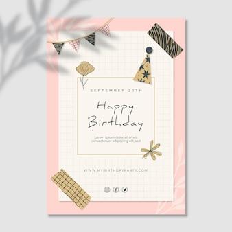 Verjaardag verticale flyer-sjabloon