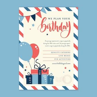 Verjaardag verticale flyer voor kinderen