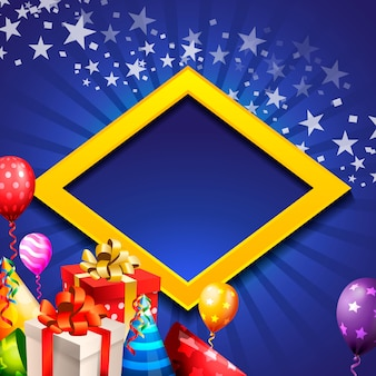 Verjaardag viering achtergrond, verjaardag ballon