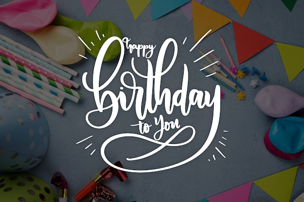 Verjaardag viering stijl voor belettering