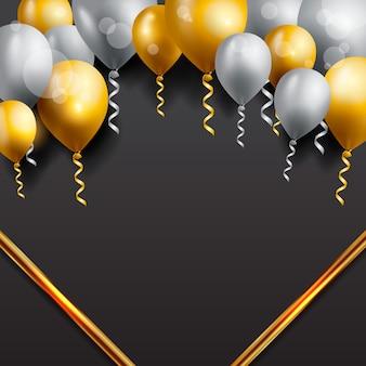 Verjaardag wenskaart met ballonnen