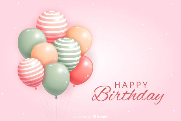 Verjaardagsachtergrond met kleurrijke ballons