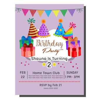 Verjaardagsbadge met feestmuts en ballon