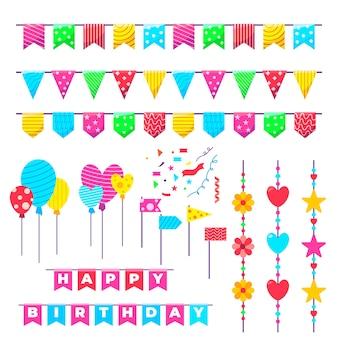 Verjaardagsdecoratie met kleurrijke ballonnen