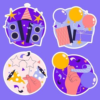Verjaardagsfeestje elementen illustratie set