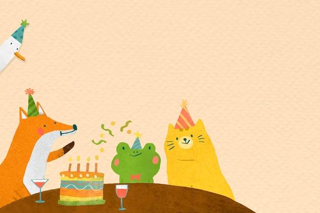 Verjaardagsfeestje met dierenkrabbel