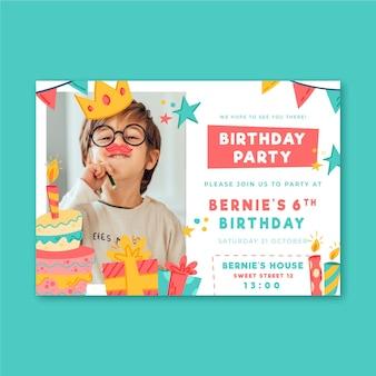 Verjaardagsfeestje uitnodiging sjabloon